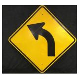 Yellow Road Curve Sign