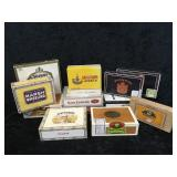 12 Assorted Cigar Boxes