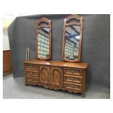 Drexel Buffet Dresser w/ 2 Mirrors