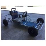 Blue/Silver Go Kart