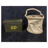 US Army Feed Bag & Ammo Box
