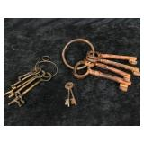 3 Misc Set of Different Sized Keys