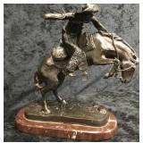 Bronco Buster Frederic Remington Bronze Statue