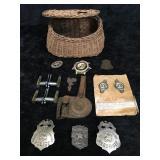 Variety of Badges, US Calvert Brass Emblems,