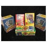 5 Boxes of Baseball Trading Cards Un-Opened