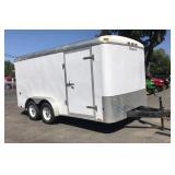 Roadmaster 14 1/2ft x 7ft Enclosed Box Trailer