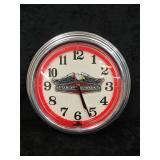 Red Neon Harley-Davidson Clock