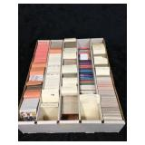 Box of Misc Baseball & Football Collectors Cards