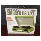 Green Crosley Cruiser Deluxe 3-Speed Portable