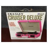 Pink Crosley Cruiser Deluxe 3-Speed Portable
