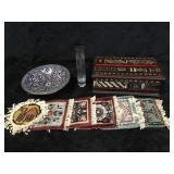 Misc Decorated Box, Bowl, Coasters, & Vase