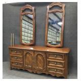Drexel Dresser w/ 2 Mirrors
