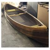 15ft Wood Canoe Built In Seats
