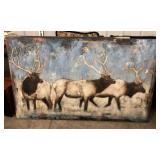 Original Paul Brigham Canvas Elk (In Winter) 36x60