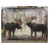 Original Paul Brigham Moose (In Winter) 36x48