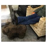 Cabin Decor Bear Foot Rest ( 27in x 15in x 18in)