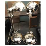 18in Table Top Twin Stainless Modern Lamp Set
