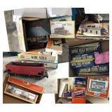 Model Train Mixed Scales Buildings, Trains,Scenery