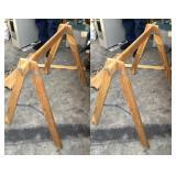 (2) Folding Wood Saw Horse