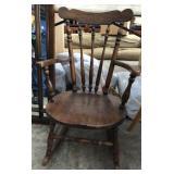 Kids Wood Rocking Chair (Repair Needed)