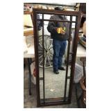 Espresso-Wood Wall Mirror 18.5in x 46.5in