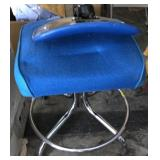 Mid Century Modern Royal Blue & Stainless Chair