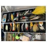 Stainless Tackle Box Stacked Full Hard Baits