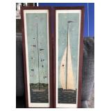 "2pc Series ""Sail Boats""- BASCO TRANSWORLD Decor"