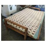 Futon Sofa With Southwest Print-(Missing Piece)