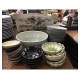 Collection of Asian Serving Bowls & Trays
