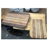 (3) Wood Cutting Boards