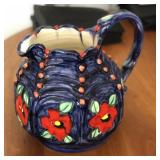 11in Handcrafted Water Pitcher Ceramic