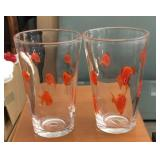 (2) Crate & Barrel Goldfish Glassware