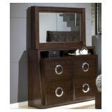 Presley Contemporary Dresser with Drop Down Mirror