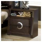 Presley Contemporary 2 Drawer Nightstand