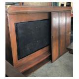 Flat Screen-TV Wall Cabinet (Door Repair Needed)