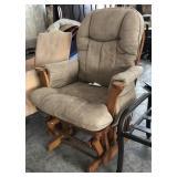 Beige Pillow Top Rocking Chair