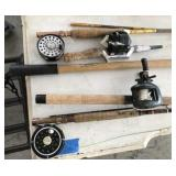 (4) Mixed: Spin & Fly Fishing Rods