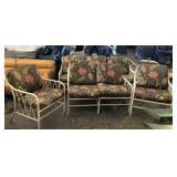 4pc Paisley Metal Patio Sofa,Loveseat, Chair Set