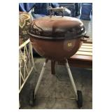 Orange Ombre Kettle Charcoal Grill