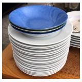 White Pillivuyt Coupe Porcelain Plates & Bowls