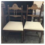 Pair of Vintage French Country Wood Chairs