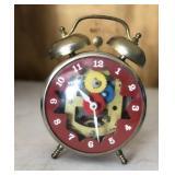 5in Vintage Open Face Metal Alarm Clock