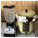 Vintage Crocker Cooker Fryer, Osterizer Blender