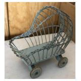 Vintage Doll Crib Bassinet