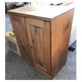 2-Door Wood Side Cabinet (24in x 14in x 30in H)