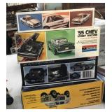 Vintage Monogram Model Cars (55 Chev, Mustang)