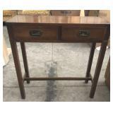 28in Framed Edge 2 Drawer Side Table