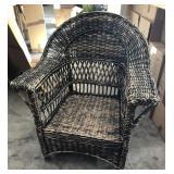 Black Wicker Patio Chair