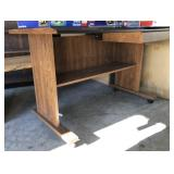 Faux Wood Office Desk With Drawer